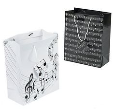 Hit the right note with these pretty Music Gift Bags! For musicians, fellow band members, choir members and anyone who loves music, these gift bags are a . Party Kit, Party Shop, Goodie Bags, Gift Bags, Music Theme Birthday, Beatles Birthday, Music Party, Birthday Bash, Birthday Parties