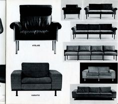 Haimi - Kukkapuro Catalogue from 1969  Presentation of the various pieces of furniture designed by Yrjö Kukkapuro, Tobia Scarpa and others for Haimi in the 1960's. The catalogue was probably used in sales and it also contains samples of the colors of fiber glass offered as well as fabric samples.
