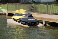 A PWC Ramp. Simply slide your PWC (personal watercraft) on and off! (Williamson Boat Docks Inc.)