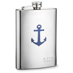 Anchor Flask- nautical. Wonder if the groomsmen would like this? #VABeachWedding