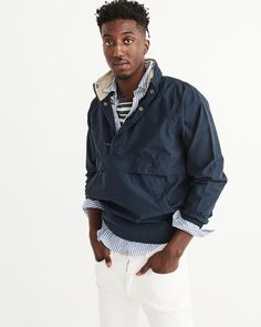 A&F Men's Popover Jacket in