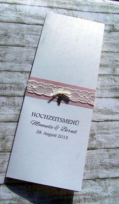 Kartenmanufaktur Arndt, Hochzeitseinladungen, Menükarten, Tischplan Hochzeit - Hochzeitspapeterie Vintage