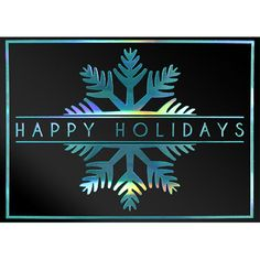 Blue Snowflake Business Holiday Greeting Cards | On The Ball Promotions