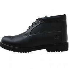 Timberland Wp Chukka Mens 50059 Black Smooth Leather Waterproof Boots Size 10.5