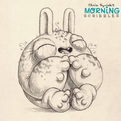 SOMEBODY is happy that it's Friday!  #morningscribbles | 출처: CHRIS RYNIAK