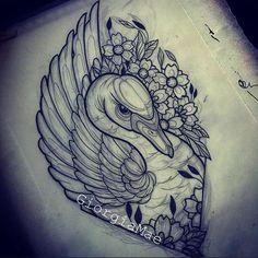Sunday sketching Design up for grabs. Please email giorgiamaetattoos@yahoo.com to enquire #bondiink #bondiinktv #inked_animals #neotraditional #swan #swantattoo #tattoo #sketch