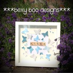 Scrabble picture frame. Perfect bespoke gift x