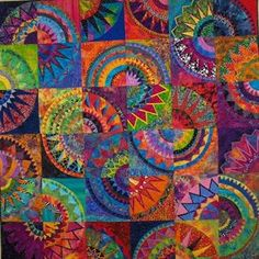 Great group project. have each child decorate a 1/4 circle however they want and then match them up like a quilt pattern.