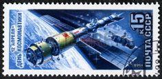 URSS - CIRCA 1988 Un timbre imprim� en URSS consacr� Journ�e internationale d�di�e � l'espace, vers 1988 Grand espace s�rie photo
