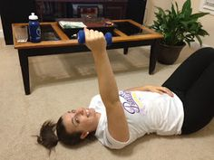 Zap that under arm jiggle, tone up your arms with these simple moves!  Bonus : you can do them laying down...After a great workout.