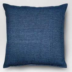Chambray Denim Oversize Square Throw Pillow Blue Home Decor Quilt Large Oversized Throw Pillows, Small Pillows, Blue Throw Pillows, Decorative Pillows, Blue Cushions, Sofa Couch, Couch Pillows, Velvet Pillows, Sofa Set