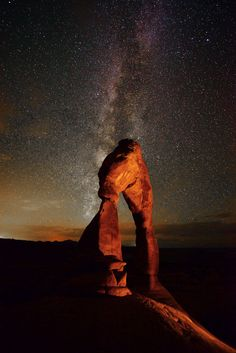 Milky Way over Delicate Arch, Arches National Park, Utah