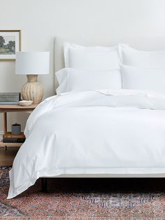 White Duvet Covers, Luxury Duvets in Solid Colors White Duvet Bedding, Fluffy White Bedding, Bedroom Decor On A Budget, Bedroom Ideas, Bedroom Inspo, White Duvet Covers, Luxury Duvet Covers, Luxury Bedding, Houses