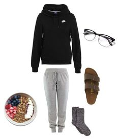 """""""Lazy weekend"""" by miricale on Polyvore featuring NIKE and Birkenstock"""