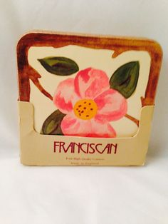 Vintage Franciscan Desert Rose Cork Coasters by missenpieces 1980s