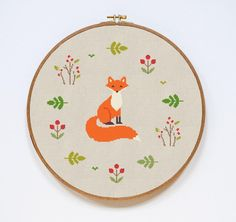 Looking for your next project? You're going to love Fox Modern Cross Stitch Pattern by designer Stitchering. More