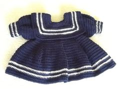 Baby Girls Crochet Sailor Dress by SweetSouthernBabies on Etsy, Sailor Baby, Vintage Sailor, Sailor Dress, Baby Girl Crochet, Crochet Hooks, Baby Girls, Crochet Patterns, Mountain, Bling