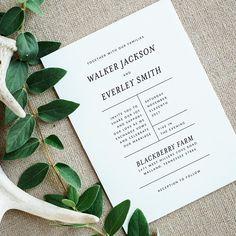 Printable Wedding Invitation Suite  Simple Wedding Invites