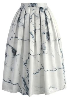 Marble Chic Printed Midi Skirt - New Arrivals - Retro, Indie and Unique Fashion