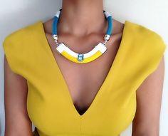 Collier strass bleu  collier ethnique  par VChristinaCollection