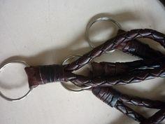 Schlüsselanhänger Flechtleder kurz  #schoenebeute #ghanin #Schmuck