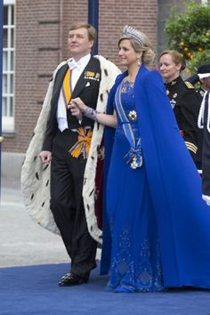 I present you the new King and Queen of the Netherlands.... King Willem Alexander and Queen Maxima of the Netherlands after the his inauguration ceremony
