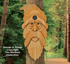 Cedar Bearded Man Birdhouse Plan NEW!  No perch needed on this uniquely shaped birdhouse....his over-sized nose easily accommodates takeoffs and landings! Make him from weather resistant cedar boards. No painting required!