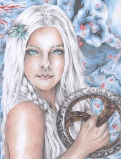 My drawing of Meira from Snow Like Ashes/Ice Like Fire @seesarawrite #JoinTheBlizzard