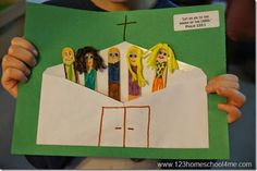 Jesus in the temple as a boy sunday school craft