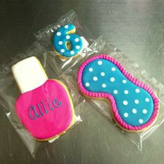 spa party ideas for girls birthday | Spa party cookies! #cookies #yummy ... | Girl Party Ideas
