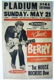 The legendary Chuck Berry playing during his May 1961 tour. Vintage Concert Posters, Vintage Posters, Rock And Roll History, Chuck Berry, Rock N Roll Music, Tour Posters, Music Artwork, Music Stuff, Country Music