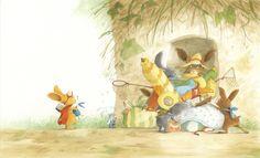 Mes illustrations | Eve Tharlet Children's Book Illustration, Book Illustrations, Horse Farms, Little Houses, Childrens Books, Bunny, Cozy, Horses, Cartoon