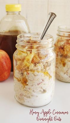If you love apple pie, than you're going to LOVE this Honey Apple Cinnamon Overnight Oats Recipe! Cause who doesn't love dessert for breakfast? This is totally a healthy and delicious overnight oats r(Tuna Recipes Weight Watchers) Honey Recipes, Oatmeal Recipes, Gourmet Recipes, Cooking Recipes, Healthy Recipes, Healthy Breakfasts, Apple Recipe Healthy, Quick Oat Recipes, Cooking Tips