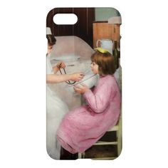#Nurse - Playing nurse 1918 iPhone 7 Case - #giftideas for #kids #babies #children #gifts #giftidea