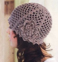 crochet hat - Instructions in Japanese, along with pictorial instructions