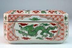 mandarin period design images | Chinese Porcelain Covered Box : Lot 307