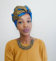 African head wrap tutorial