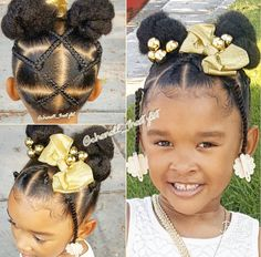Little Girls Ponytail Hairstyles, Little Girl Ponytails, Black Kids Hairstyles, Baby Girl Hairstyles, Natural Hairstyles For Kids, Kids Braided Hairstyles, Toddler Hairstyles, Braids For Kids, Girls Braids