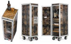 airplane trolley wine / whiskey cabinet