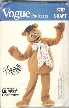 Vogue 8787 1980s  Childs Muppet  Costume Pattern FOZZIE  Boys