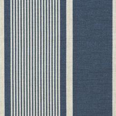 Atlantic Stripe - Indigo - Stripes - Fabric - Products - Ralph Lauren Home - RalphLaurenHome.com