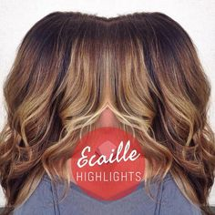 Beautiful ecaille tortoiseshell balayage highlights - LOVE this lived in hair color.  #hairbyhal