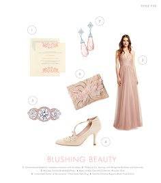 You're Makin' Me Blush ~ Blush and jewel tones are a perfect way to exude elegance and show sophistication. Hints of lace and floral details add a sense of romance and fantasy.  #blush #floral #lace #pearls #librideandgroom
