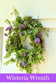 Top This Top That: Spring Wisteria Wreath