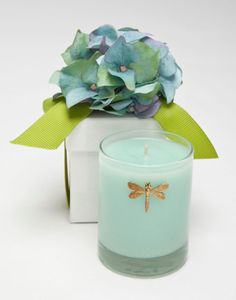Blue Hydrangea candle in gift box from Lux Candles