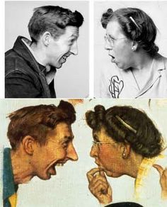 Norman Rockwell. These are the photos of 2 of the actual people from one of his paintings.