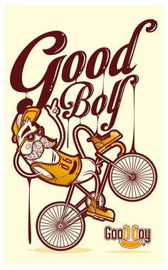Ilustraciones decoración restaurante Good Boy