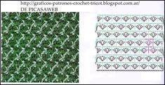 Points for crocheting Crochet Chart, Crochet Stitches, Crochet Patterns, Blanket Stitch, Rubrics, Charts, Blog, Knitting, Ideas