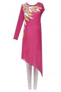 Pink Grassland Leaves Pattern Tunic #namratajoshipura #shopnow #ppus #happyshopping