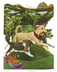 Dogs In The Park - 3D Swing Cards